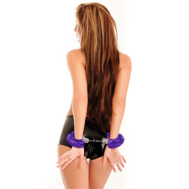 Pipedream Furry Cuffs, фиолетовые Наручники с мехом