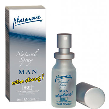 Hot Man Natural Spray Extra Strong, 10 мл, Духи-спрей для мужчин с феромонами