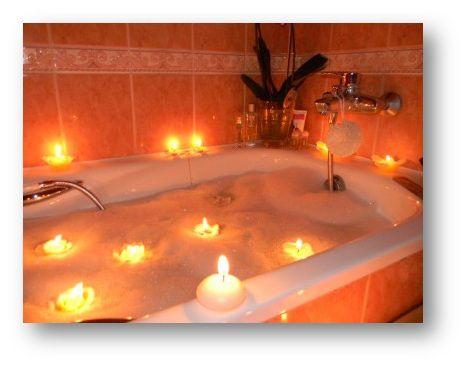 ванна с ароматическими свечами