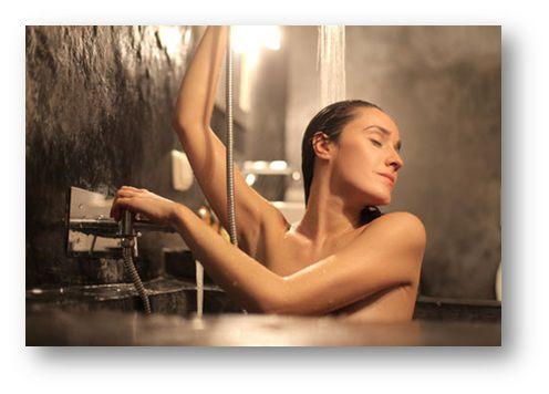 душ с массажным маслом