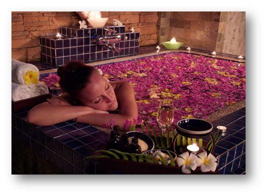 ароматные цветы в ванной