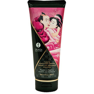 Shunga Kissable Massage Cream Raspberry Feeling, 200 мл Съедобный массажный крем с ароматом малины