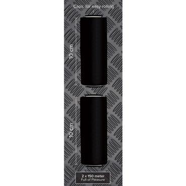 O-Products Рулон с лентой, черный Для безопасной фиксации, 2 шт