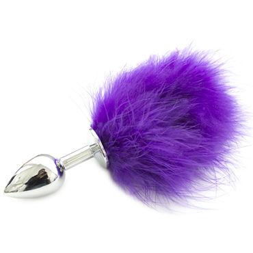 SWT Пробка металлическая серебряная С фиолетовым хвостиком
