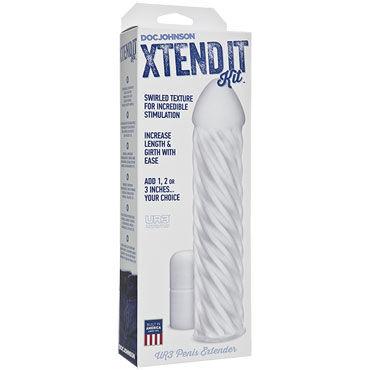 Doc Johnson Xtend It Kit Swirl Увеличивающая насадка на пенис
