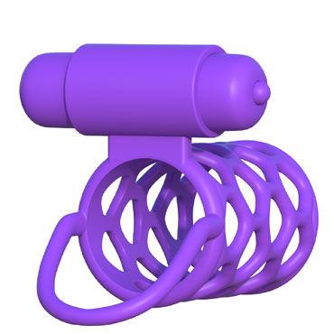 Pipedream Fantasy C-Ringz Vibrating Couples Cage Ажурная насадка с петлей для мошонки