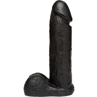 Doc Johnson Vac-U-Lock Realistic Cock 20 см, черная Реалистичная насадка фаллоимитатор