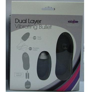 Gopaldas Dual Layer Vibrating Bullet, черный Вибромассажер яйцо с пультом