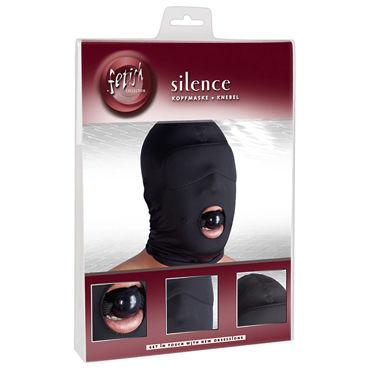 Orion Kopfmaske Knebel, черная Шлем маска закрытая с кляпом