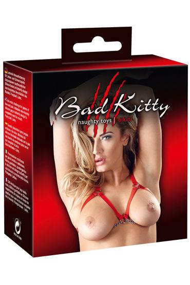 Bad Kitty Riemen-Bikini, красная Сбруя раздельная