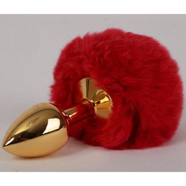 4sexdreaM Пробка металлическая, золотая С красным хвостиком