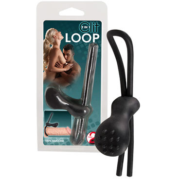 You2Toys Clit Loop 2 in 1, черное Лассо с клиторальным стимулятором