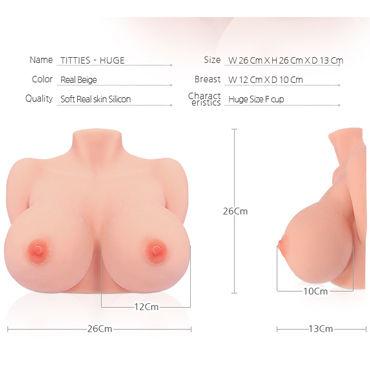 Kokos Bouncing Series Titties, телесный Торс мастурбатор в натуральную величину