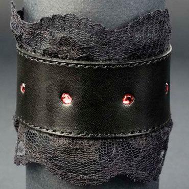 Beastly Готика 2, черный Запястник с красными стразами