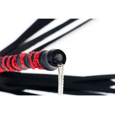 Beastly плетка 5, черно-красная Полужесткая, из шестнадцати полос