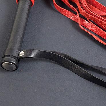 Beastly плетка, черно-красная Из двенадцати полос