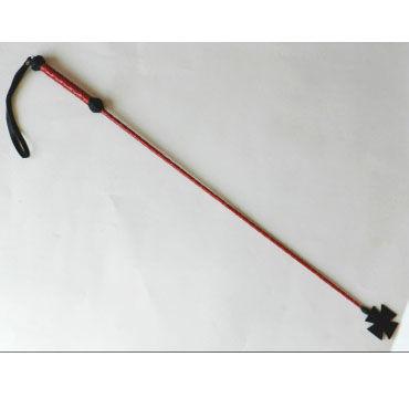 Podium стек, красно-черный, С наконечником-крестом, длинный