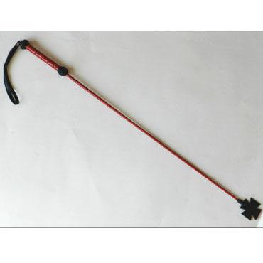 Podium стек, красно-черный, С наконечником-крестом, короткий