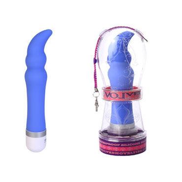 Evolved Silicone Silky G, голубой Вибратор с изогнутой головкой