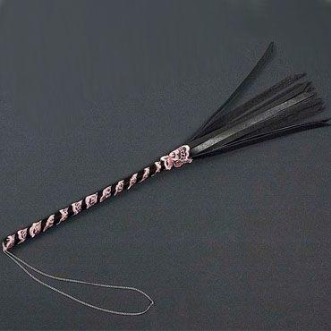 Beastly плетка 5, черно-розовая Полужесткая, из шестнадцати полос