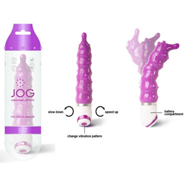 Ideal Jog Thrill фиолетовый Вибратор с мягкими шипиками