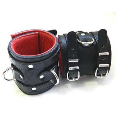 Podium наручники, черно-красные С подвернутой подкладкой