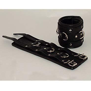 Podium наручники, черные С тремя паяными кольцами