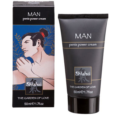 Shiatsu Man Penis Power Cream, 50 мл, Крем для мужчин, увеличивающий эрекцию