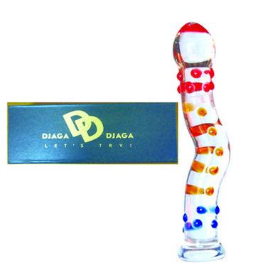 Djaga-Djaga Фаллоимитатор Изогнутый, с загругленной головкой и шипами