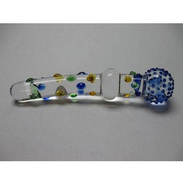 Djaga-Djaga фаллоимитатор С 2-мя головками, с разноцветными пупырышками
