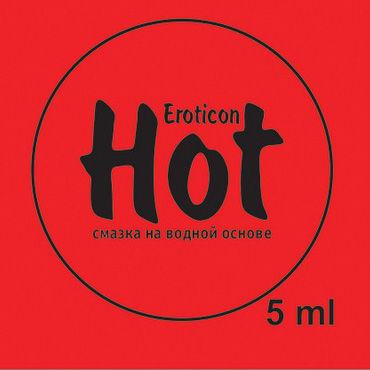 Eroticon Гель-смазка Hot, 5 мл Возбуждающая, с женьшенем