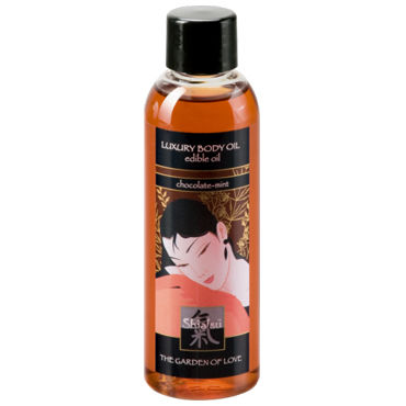 Shiatsu Luxury Body Oil Chocolate-mint, 100 мл Съедобное масло с шоколадно-мятным ароматом