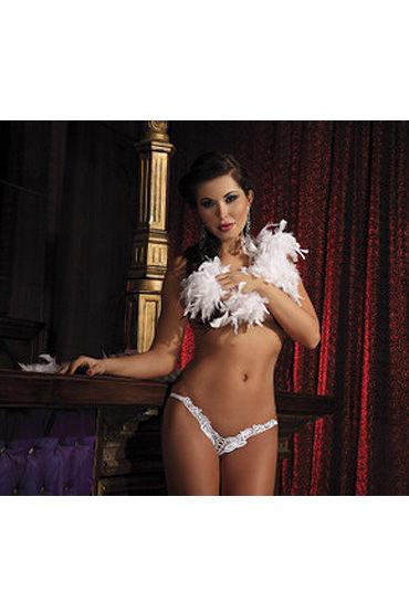 Passion Athena стринги, белые С цветочным рисунком