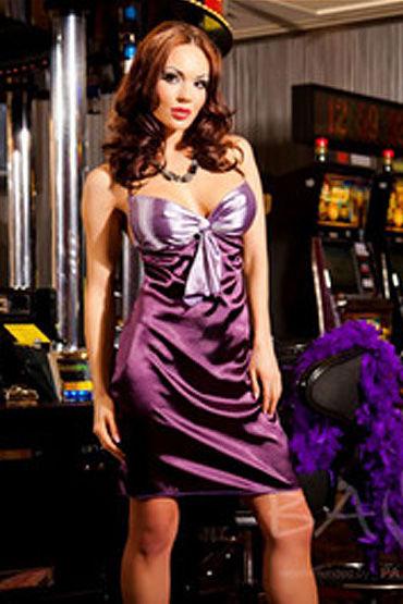 Passion Kate Purp комбинация и трусики Роскошный комплект для шикарных женщин