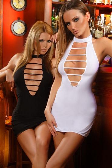 Passion Laima мини-платье, белое С фигурным вырезом в области декольте