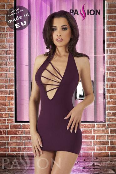 Passion Malibu мини-платье, фиолетовое С глубоким вырезом на груди