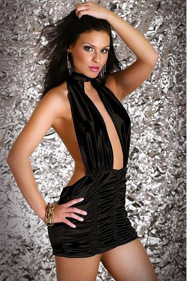 Passion Penelope мини-платье С открытой спиной, из гофрированного шелка