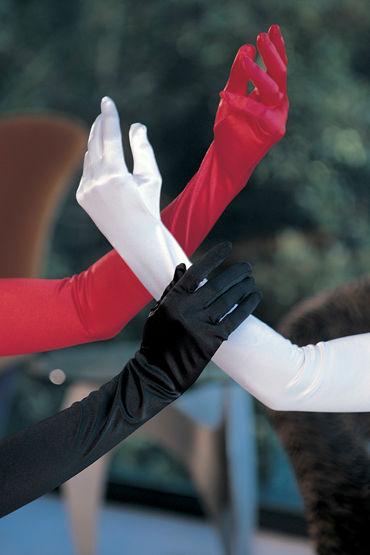 Shirley перчатки, красные Атласные