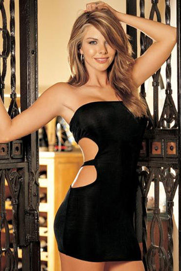Shirley платье, черное С разрезом на талии