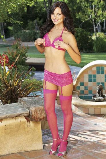 Shirley комплект, розовый Бюстгальтер, юбочка, чулки