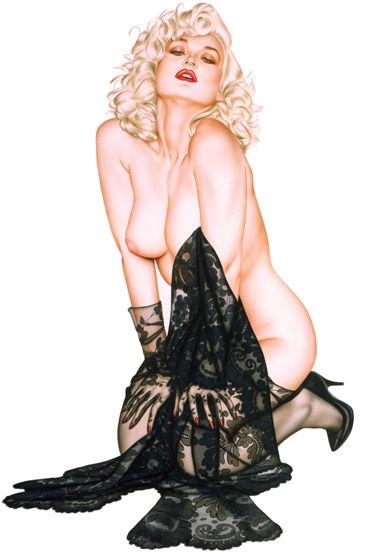 Shirley комплект Скучаешь по мне, детка?, Сорочка, чулки и перчатки - Размер Универсальный (XS-L)