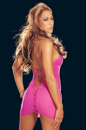 Shirley комбинация, розовая Со шнуровкой на спине