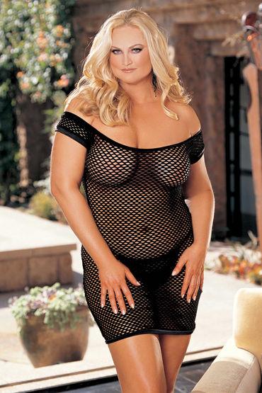 Shirley комплект, черный Платье в сеточку и стринги