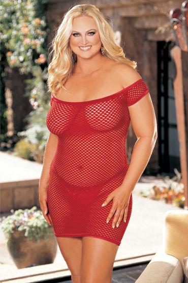 Shirley комплект, красный Платье в сеточку и стринги