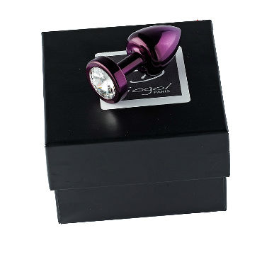 Diogol Anni Round T3, фиолетовая Анальная пробка, с кристаллом Swarovski