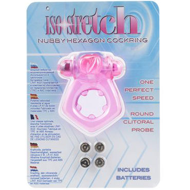 Gopaldas Ise Stretch, розовое Эрекционное виброкольцо с клиторальным стимулятором