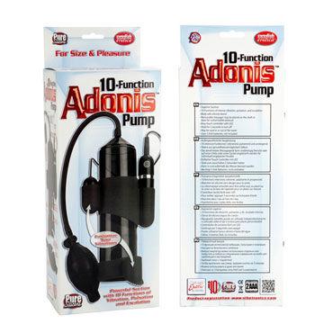 California Exotic Adonis Pumps, черная Мужская помпа, 10 функций