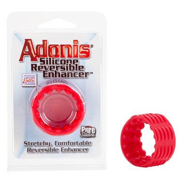 California Exotic Adonis Silicone Reversible Enhancers, красный Силиконовая насадка на пенис