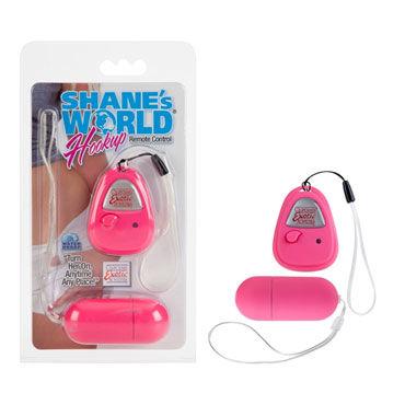 California Exotic Shane's World Hookup, розовый Виброяйцо с беспроводным пультом управления