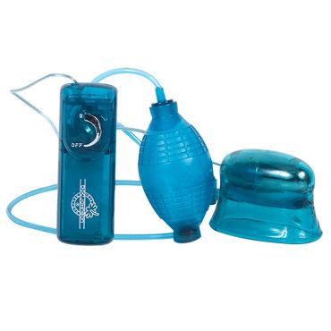 Doc Johnson Pucker Up, синий Вагинально-клиторальная помпа с вибрацией